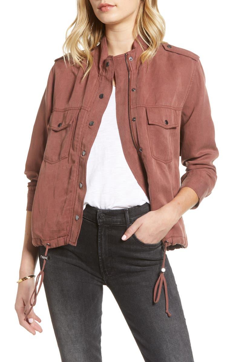 RAILS Collins Utility Jacket, Main, color, BURGUNDY