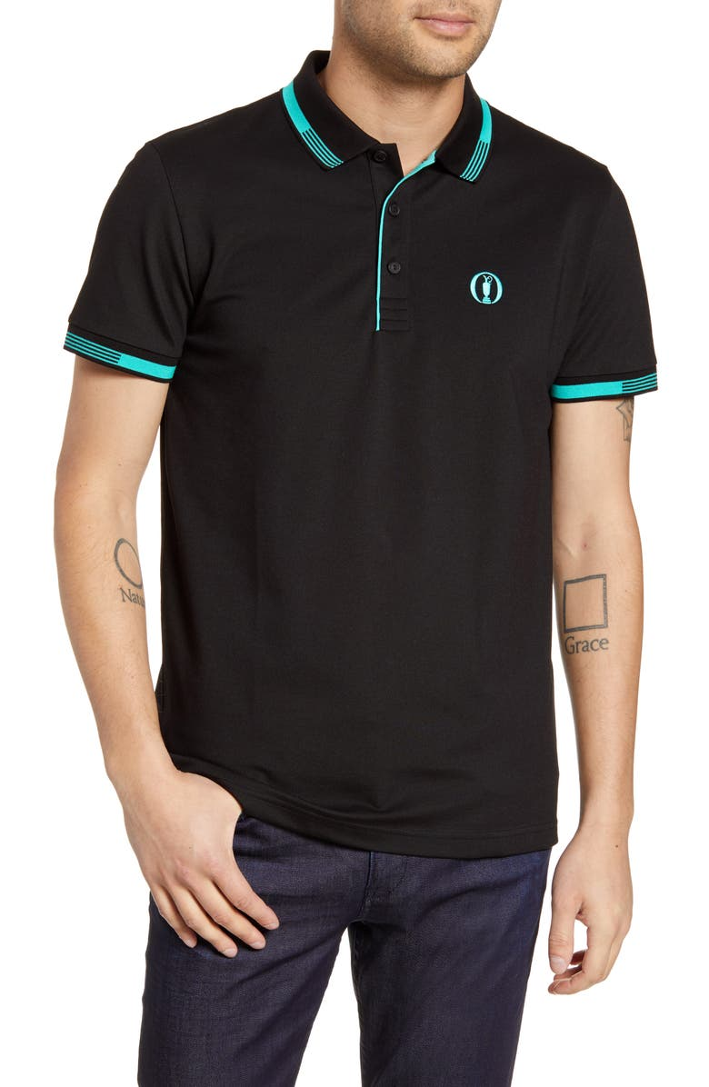 BOSS British Open Paddy Pro Regular Fit Polo Shirt, Main, color, BLACK