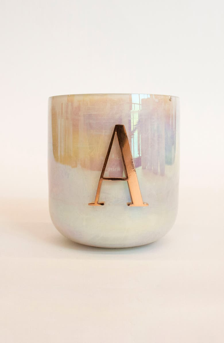 ANTHROPOLOGIE HOME Anthropologie Monogram Candle, Main, color, 100