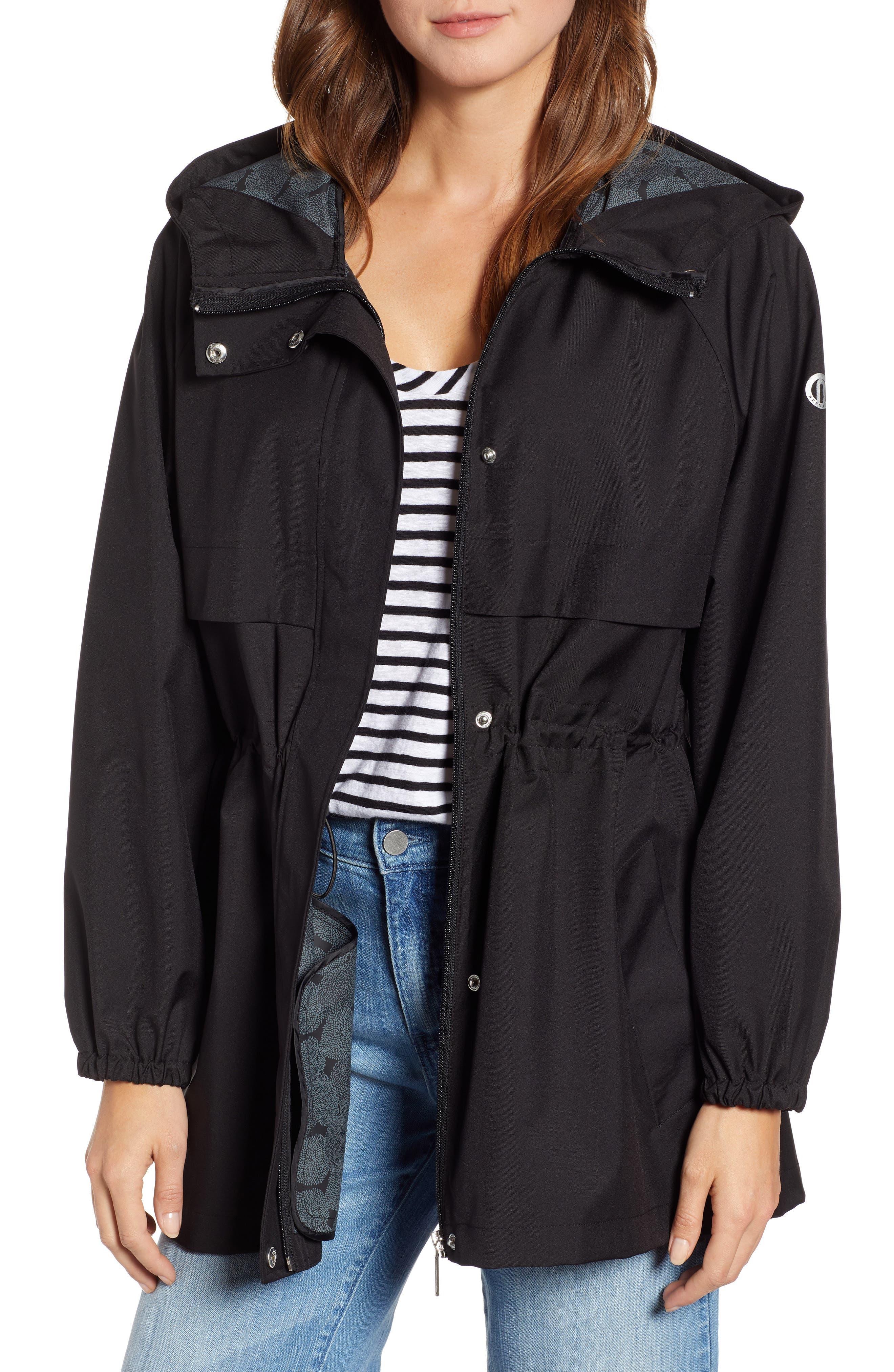 ,                             Micro Breathable Oversize Hooded Jacket,                             Main thumbnail 1, color,                             001
