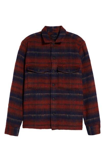 Allsaints Shirts HATCH STRIPE FLANNEL SHIRT JACKET