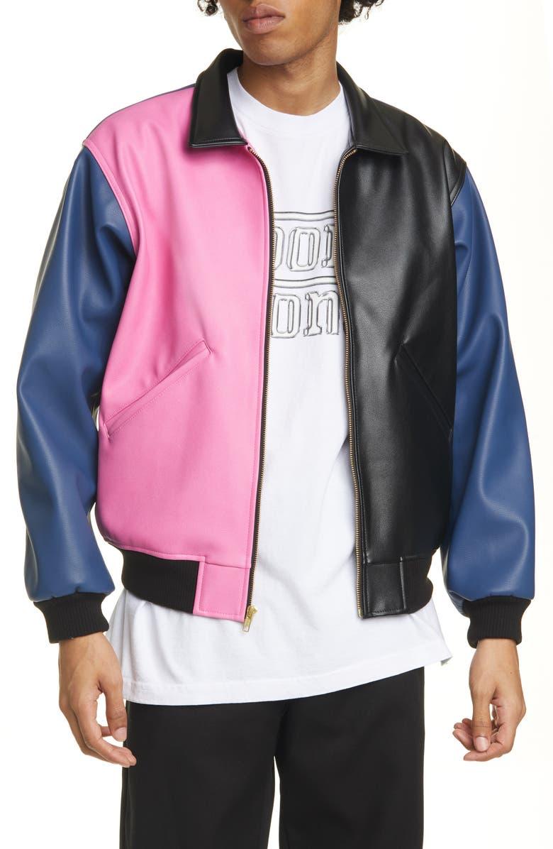 NOON GOONS Tri Me Colorblock Jacket, Main, color, 001