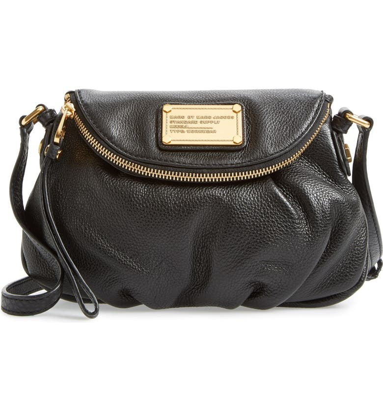 MARC JACOBS MARC BY MARC JACOBS 'Classic Q Natasha - Mini' Crossbody Flap Bag, Main, color, 001