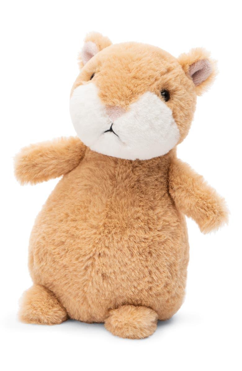 JELLYCAT Happy Hampster Cinnamon Stuffed Animal, Main, color, TAN
