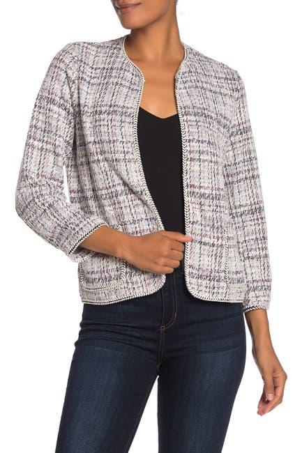 Image of Max Studio Boucle Knit Crop Jacket
