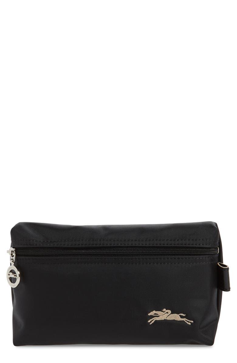 LONGCHAMP Le Pliage Club Cosmetic Case, Main, color, BLACK