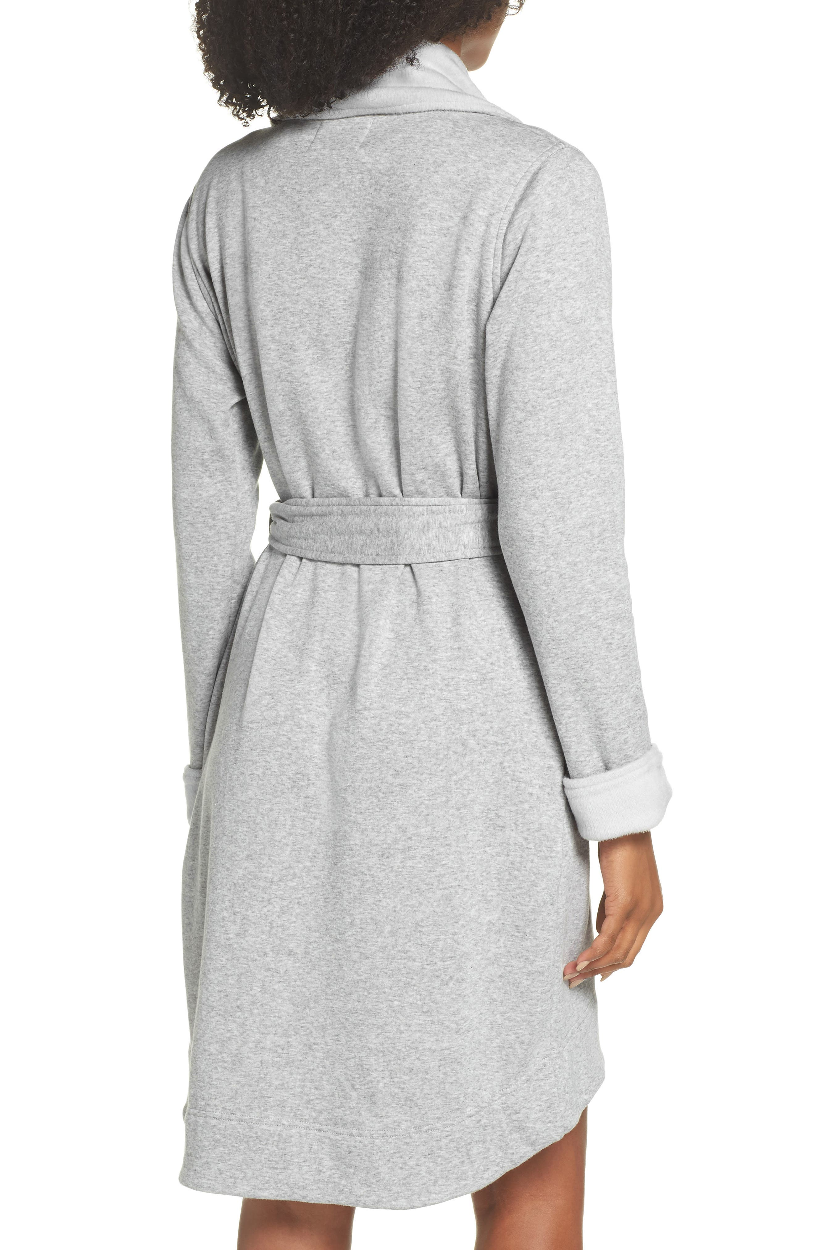 ,                             Blanche II Short Robe,                             Alternate thumbnail 2, color,                             SEAL HEATHER
