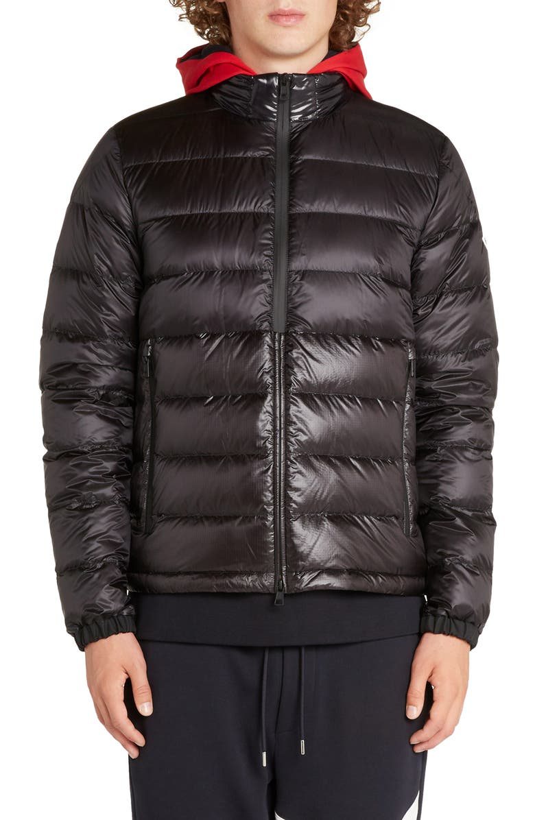 MONCLER Aimar Hooded Puffer Jacket, Main, color, BLACK