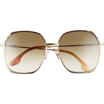 Victoria Beckham 5m Square Sunglasses - Gold/ Khaki