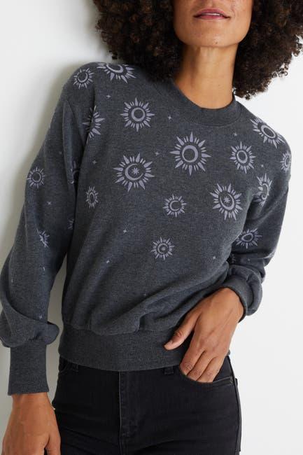 Image of Marine Layer Rue Flocked Design Sweatshirt
