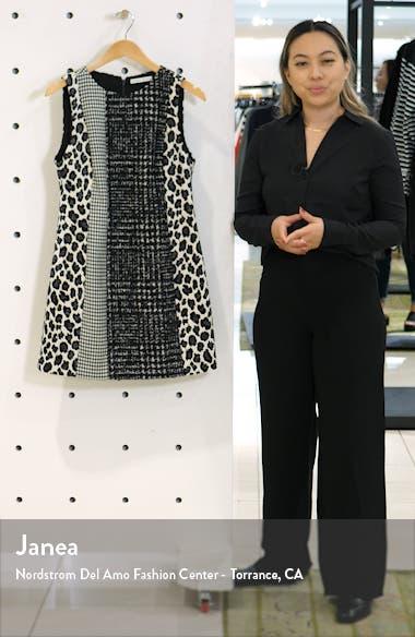 Clyde Pattern Mix Wool Blend Shift Dress, sales video thumbnail