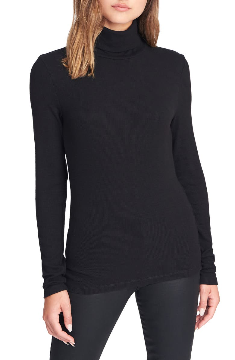 SANCTUARY Essentials Turtleneck, Main, color, BLACK