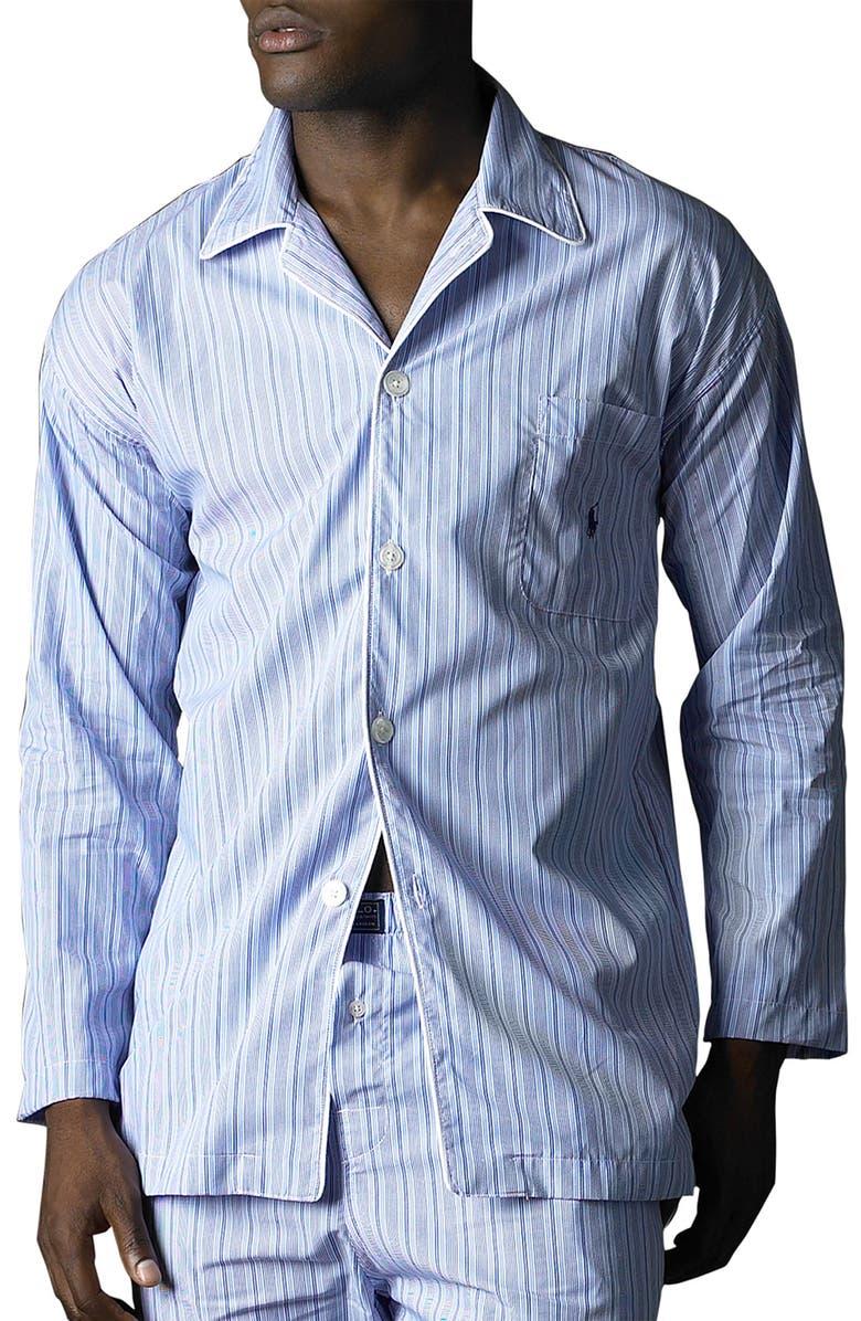POLO RALPH LAUREN Pajama Top, Main, color, ANDREW STRIPE