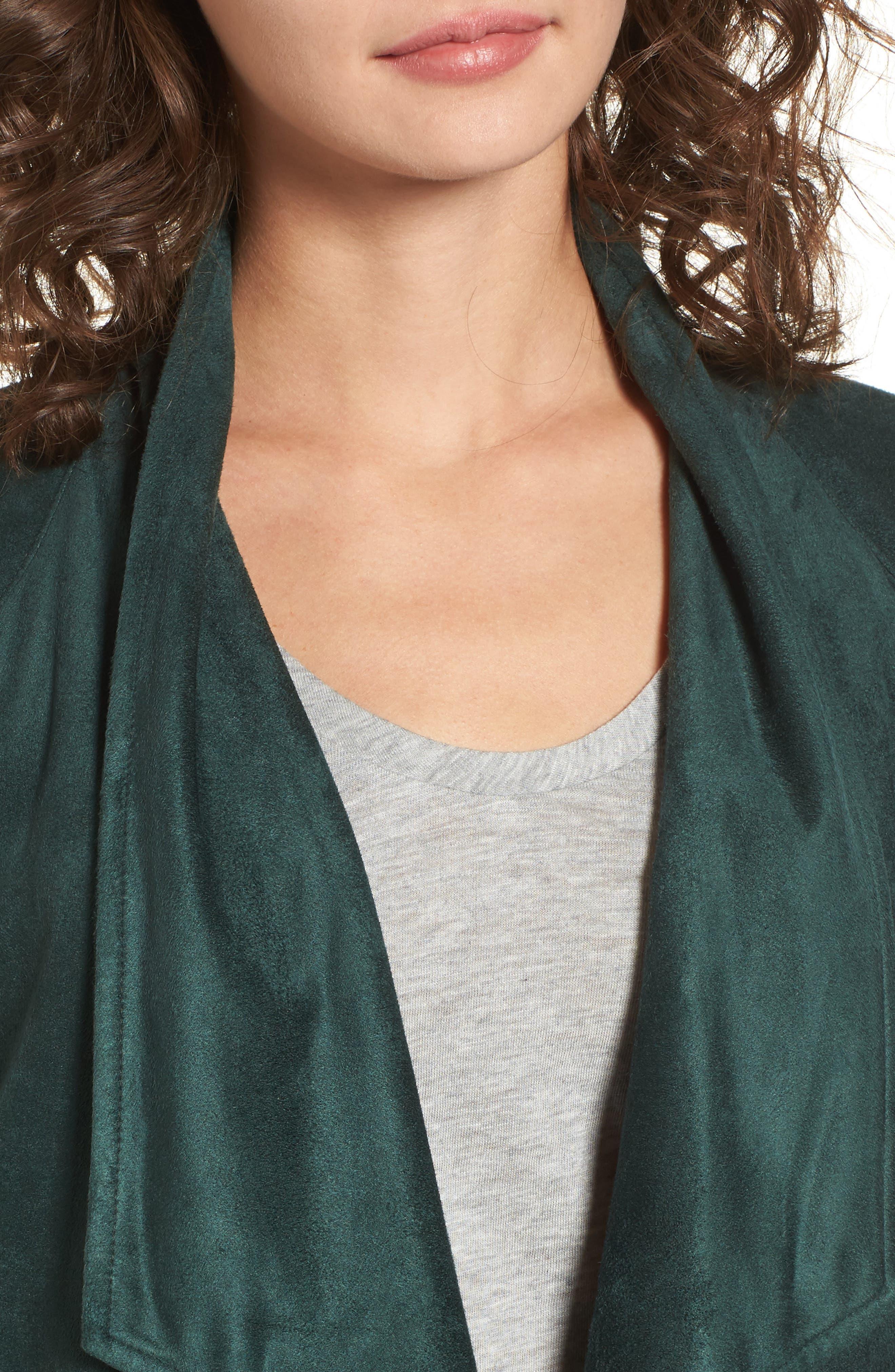 ,                             Nicholson Faux Suede Drape Front Jacket,                             Alternate thumbnail 43, color,                             301