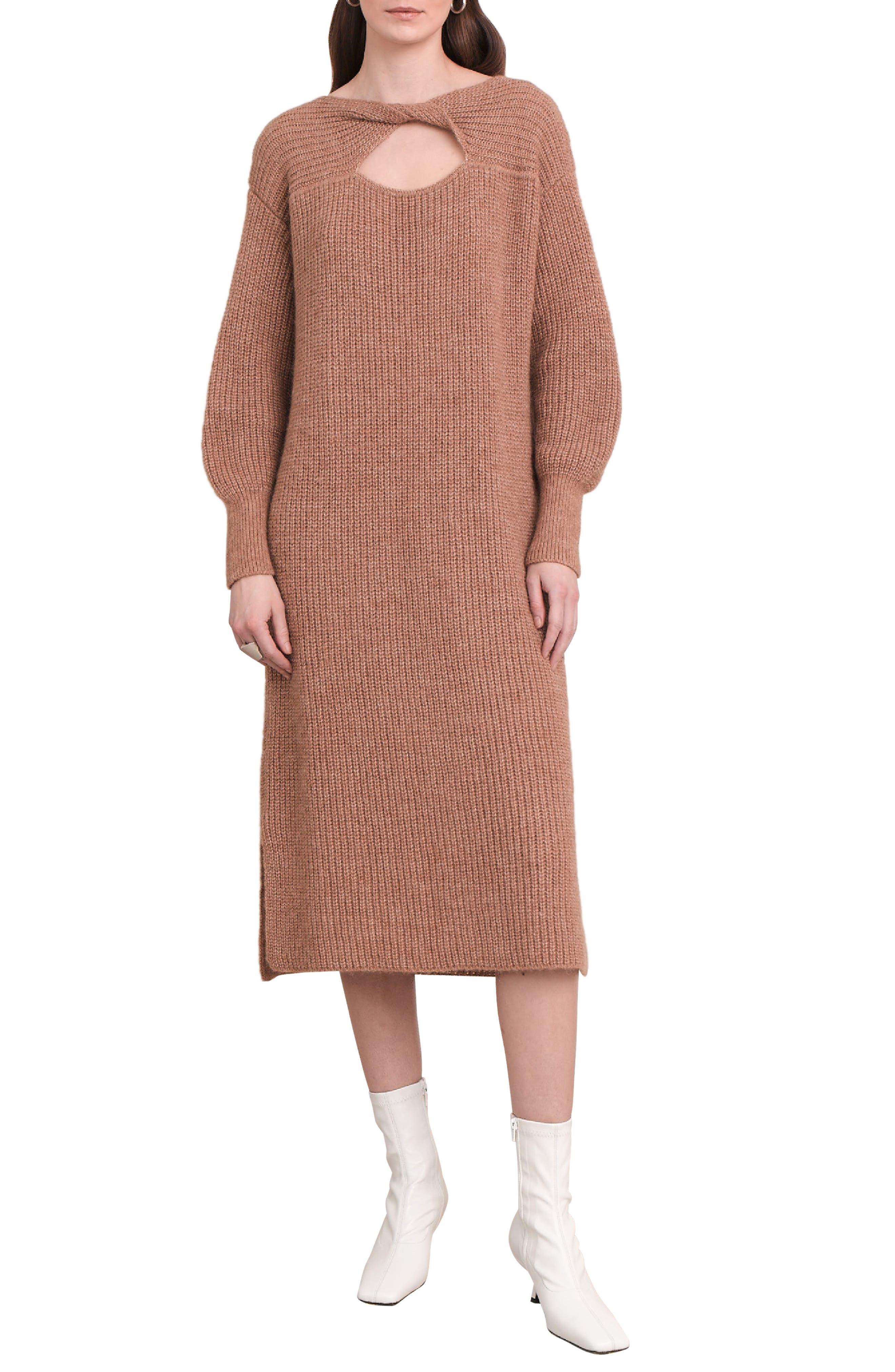 Beth Balloon Sleeve Sweater Dress