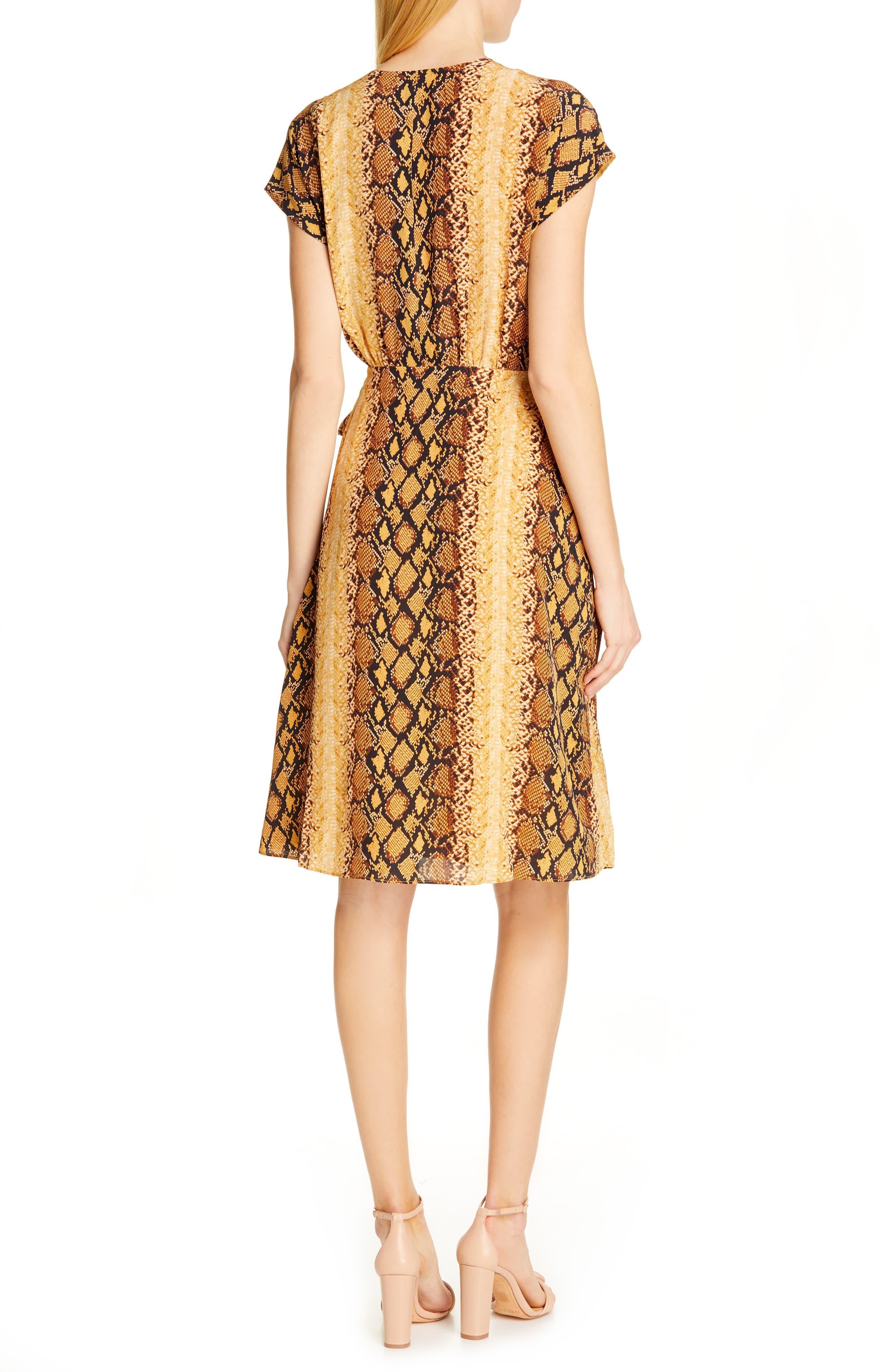 ,                             Bethwyn C Snakeskin Print Wrap Style Dress,                             Alternate thumbnail 2, color,                             720