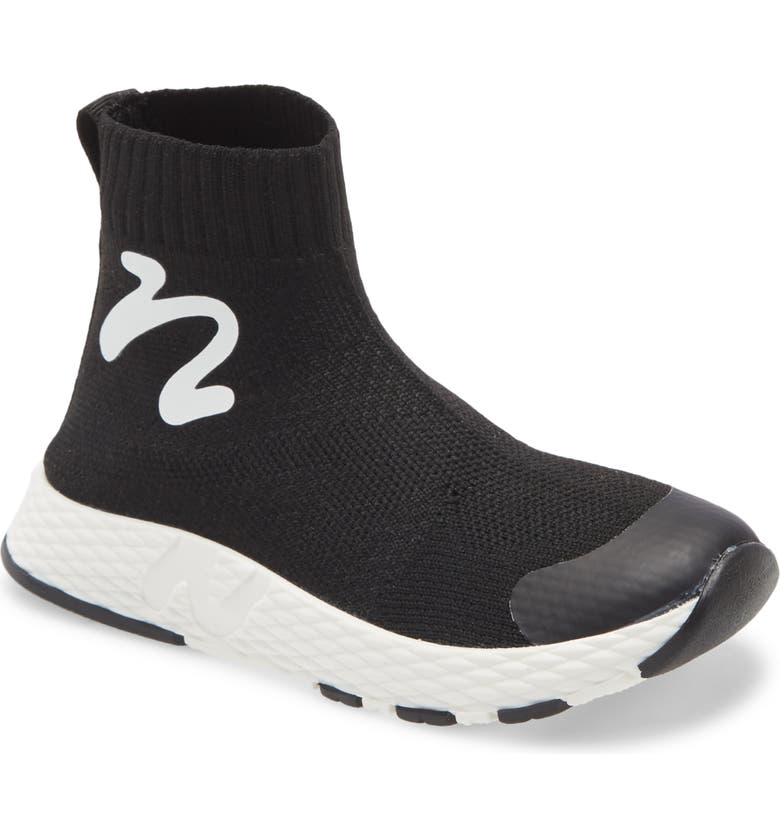 NATURINO Cables Knit Sneaker, Main, color, 001