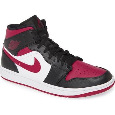 Air Jordan 1 Mid Sneaker, Black