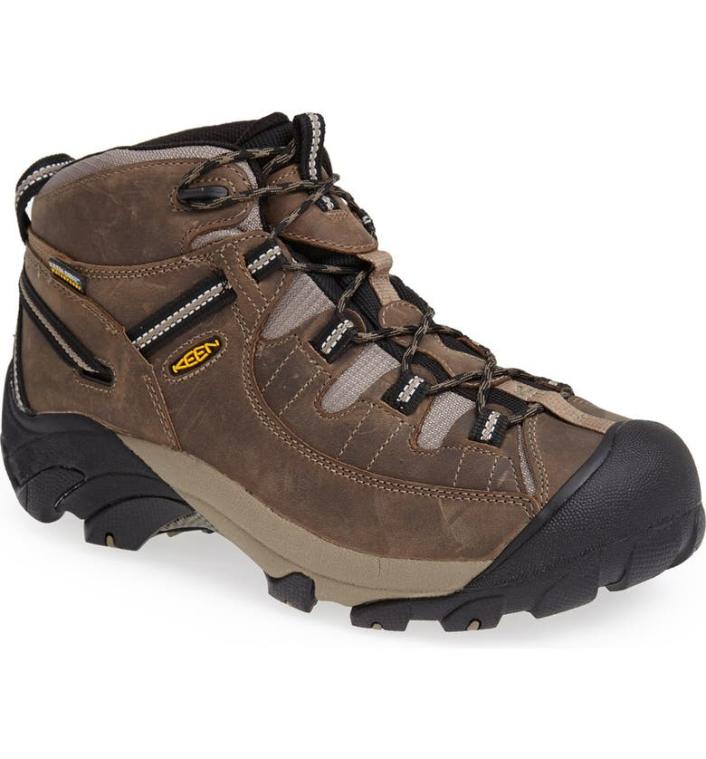 KEEN Targhee II Mid Hiking Waterproof Boot, Main, color, SHITAKE/ BRINDLE