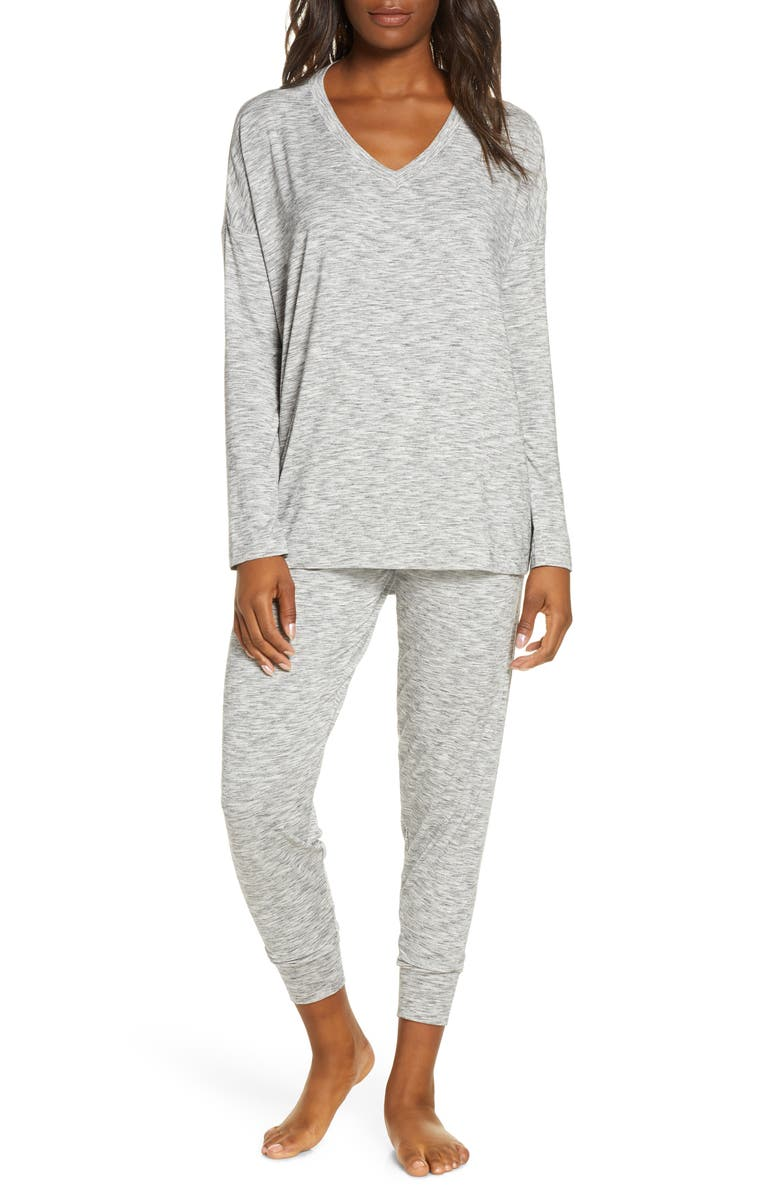NORDSTROM Moonlight Pajamas, Main, color, GREY SPACEDYE