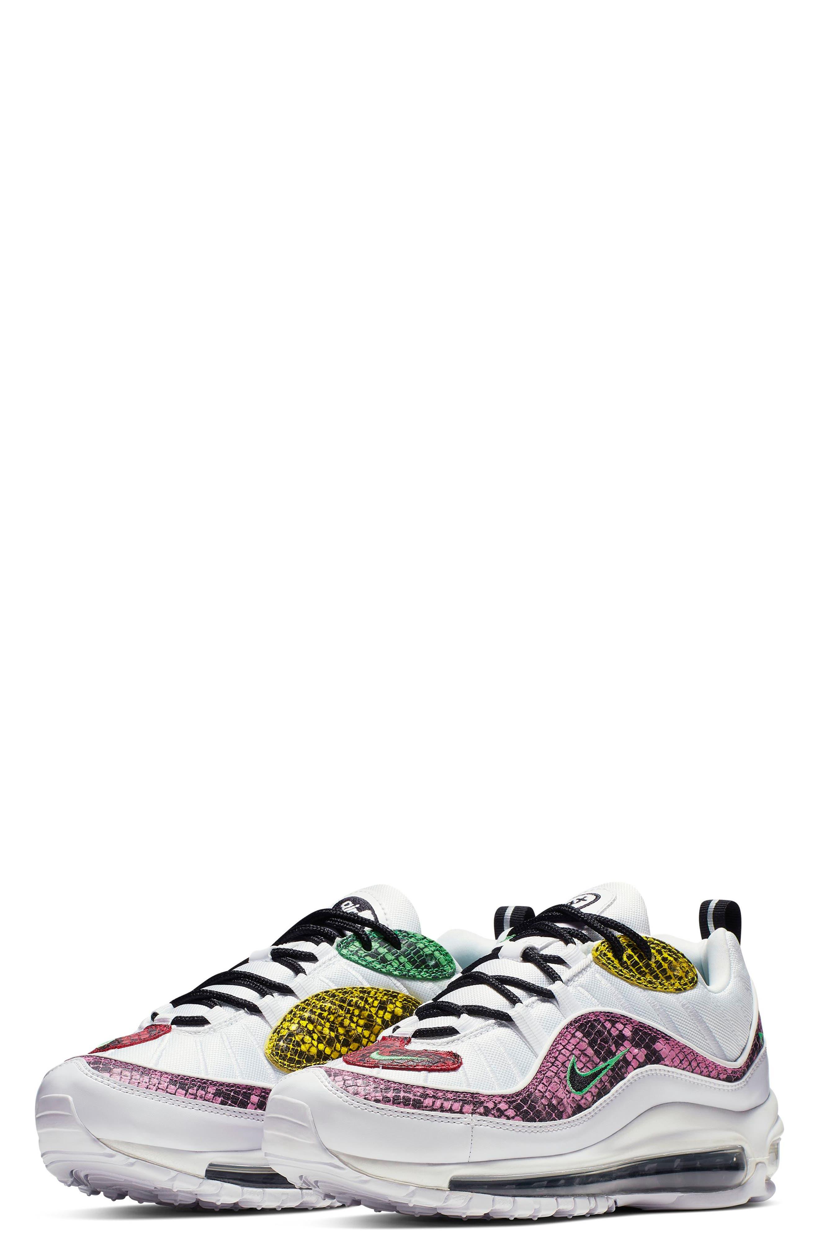 Air Max 98 Premium Sneaker, Main, color, WHITE/ BLACK