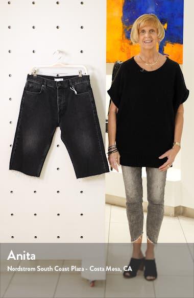 Phoebe Raw Hem Denim Shorts, sales video thumbnail