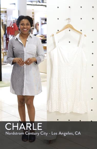 Eyelet Fit & Flare Dress, sales video thumbnail