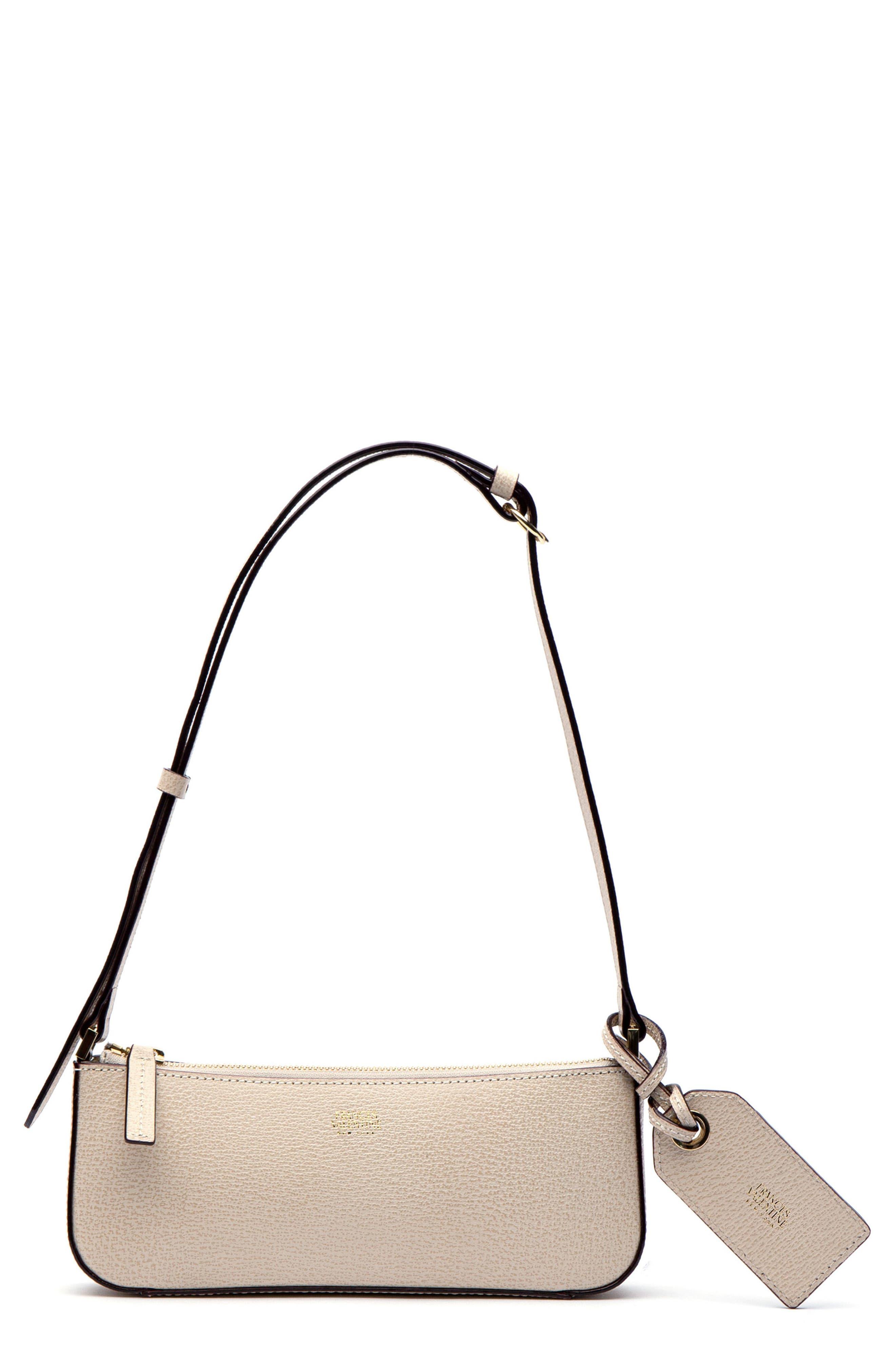 2eac8bf458b9a Frances Valentine Boarskin Leather Baguette Bag - Ivory