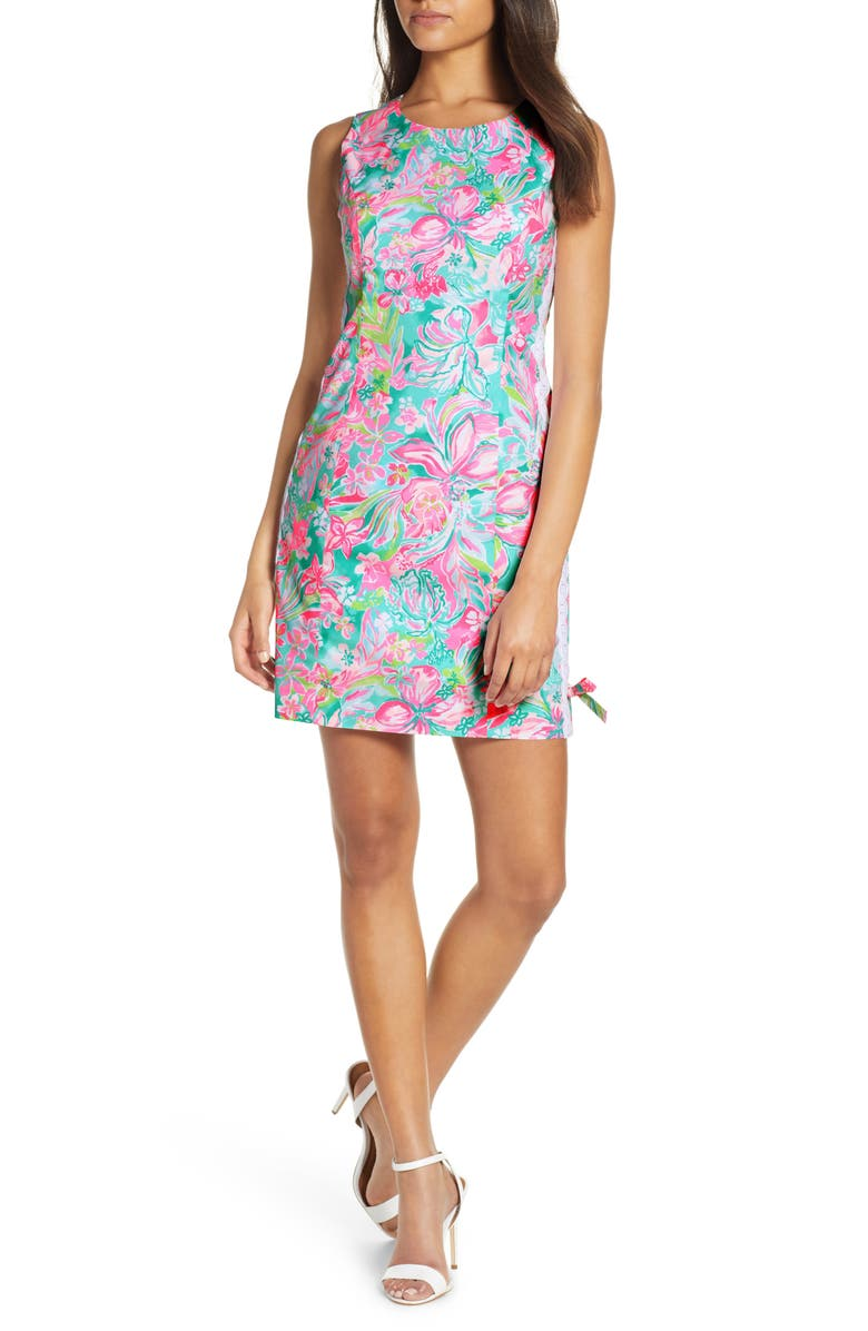 LILLY PULITZER<SUP>®</SUP> Mila Stretch Shift Dress, Main, color, MULTI HOT ON THE SCENE