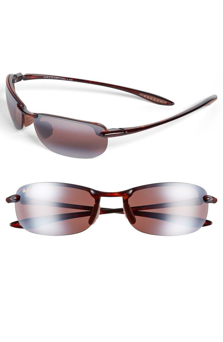 MAUI JIM 'Makaha - PolarizedPlus<sup>®</sup>2' 63mm Sunglasses, Main, color, TORTOISE/ ROSE