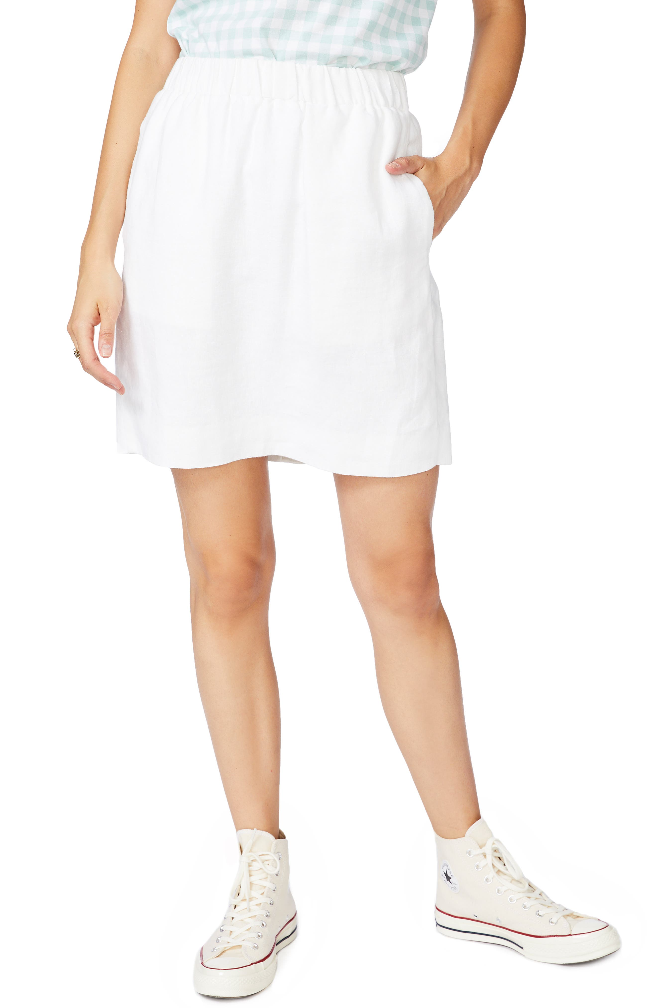 Image of COURT AND ROWE Linen Pencil Skirt