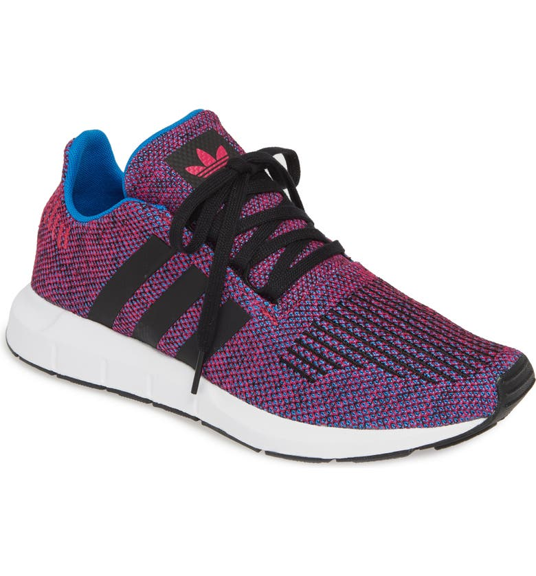 ADIDAS Swift Run J Sneaker, Main, color, REAL MAGENTA/ BLACK/ BLACK
