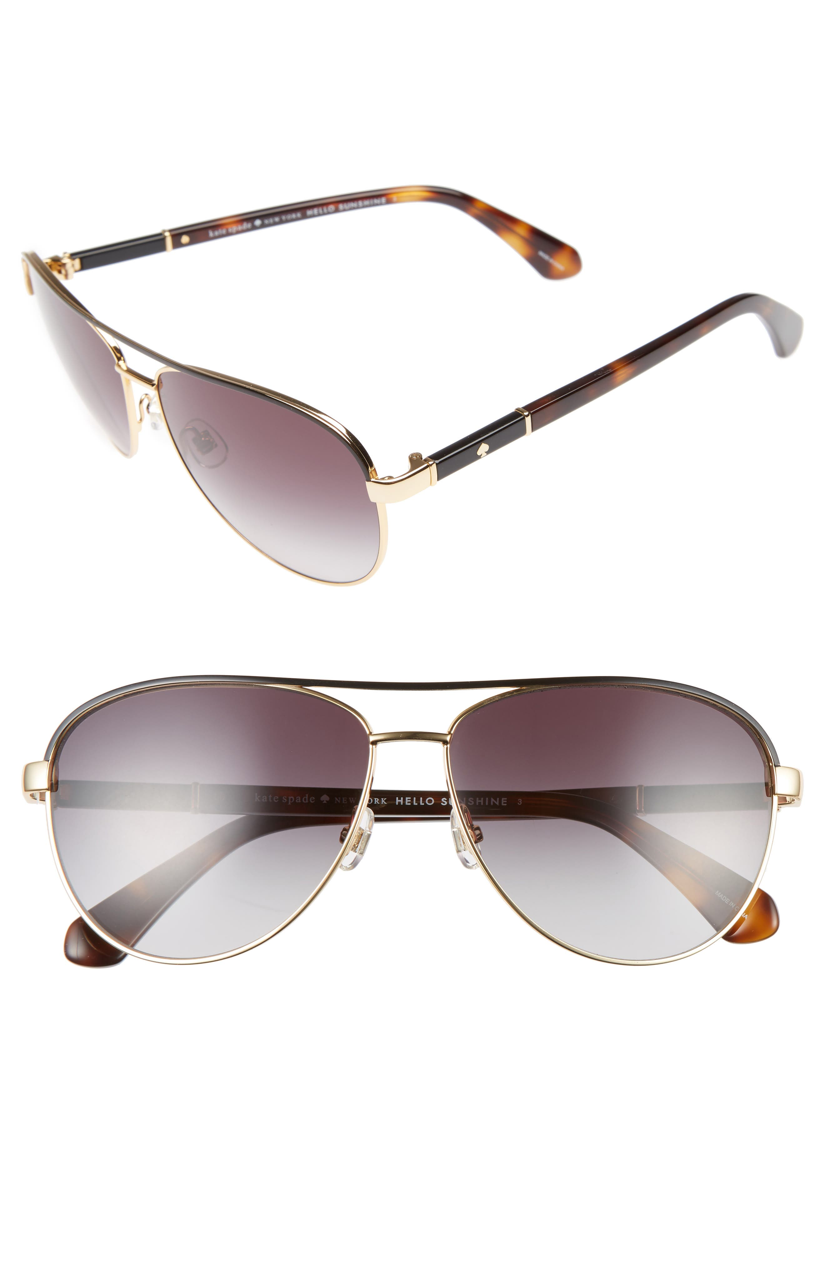 Image of kate spade new york emilys 59mm navigator sunglasses