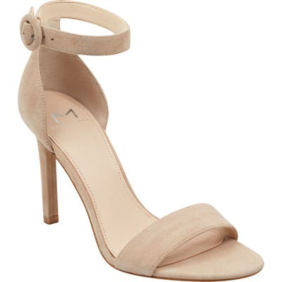 Marc Fisher Ltd Kora Ankle Strap Sandal- Beige