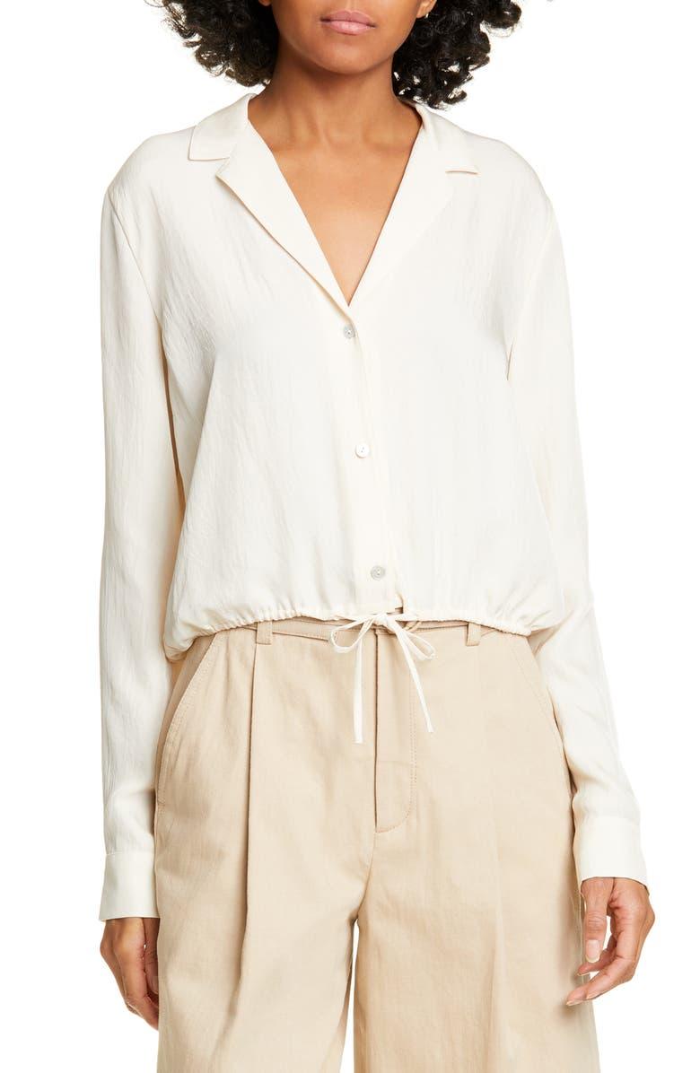VINCE Lapel Shirt, Main, color, FENNEL