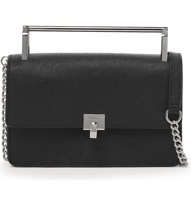 BOTKIER Lennox Leather Crossbody Bag, Main, color, BLACK