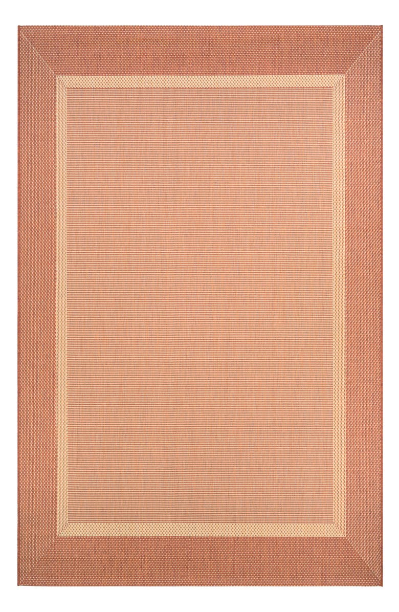 COURISTAN Stria Texture Indoor/Outdoor Rug, Main, color, NATURAL/ TERRA COTTA