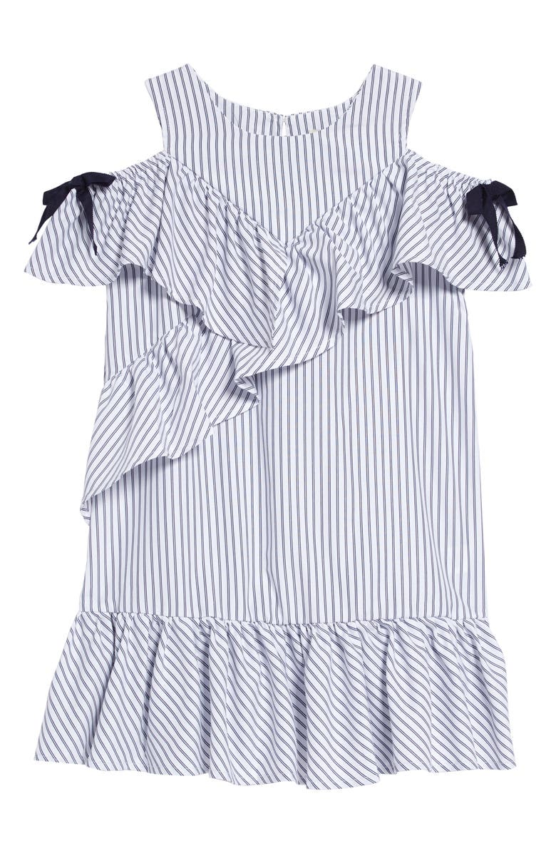 HABITUAL Stripe Cold Shoulder Shift Dress, Main, color, MULTI