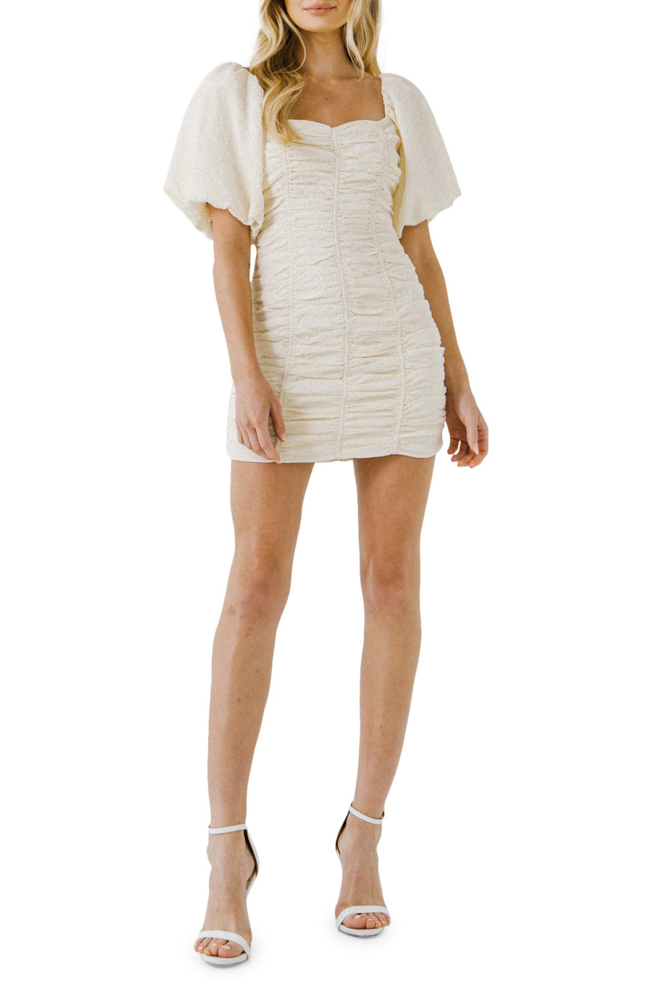 Textured Ruched Dress