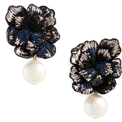 Lizzie Fortunato Cosmic Flower Freshwater Pearl Earrings