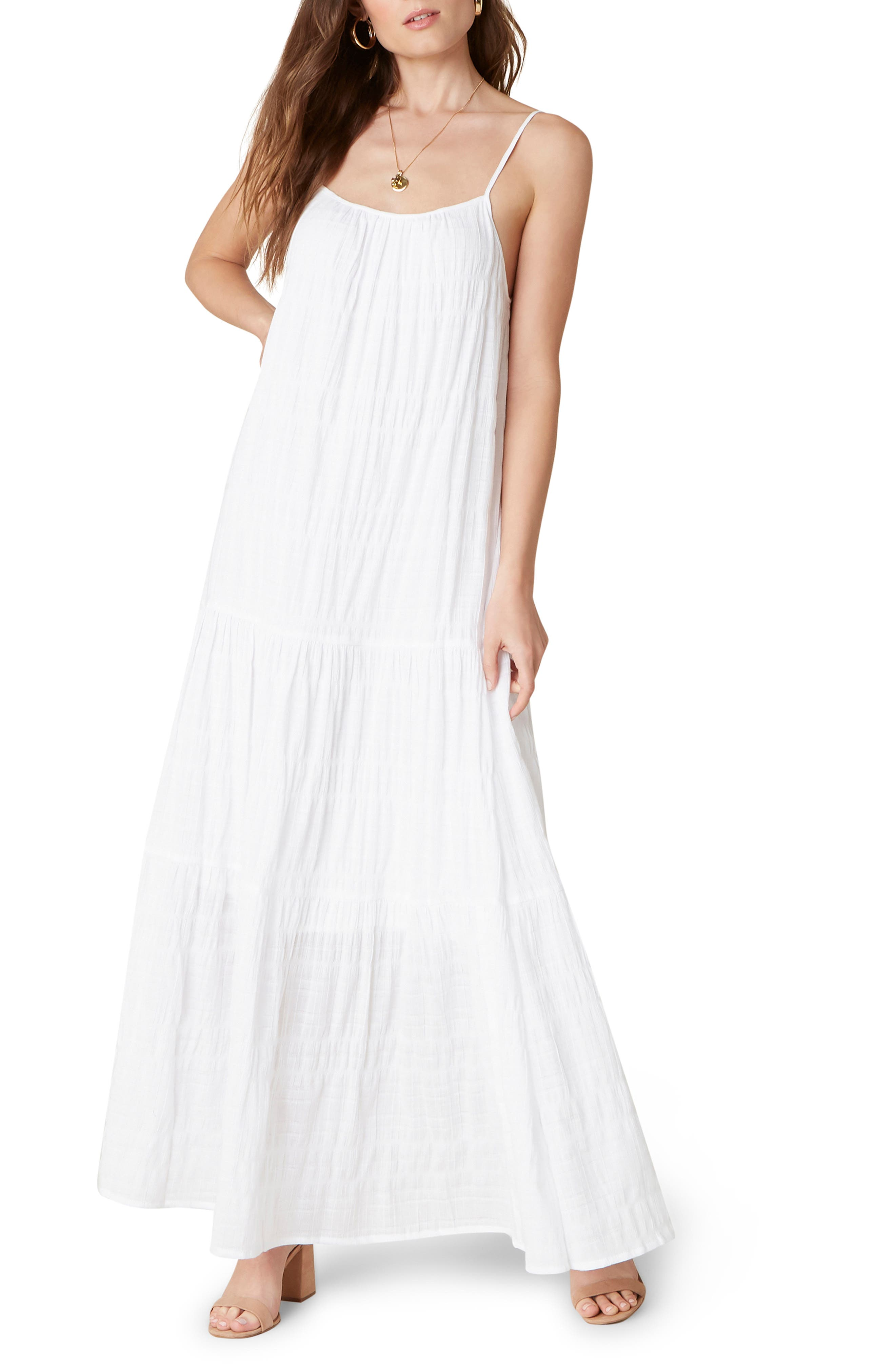 Tiered Voile Maxi Dress