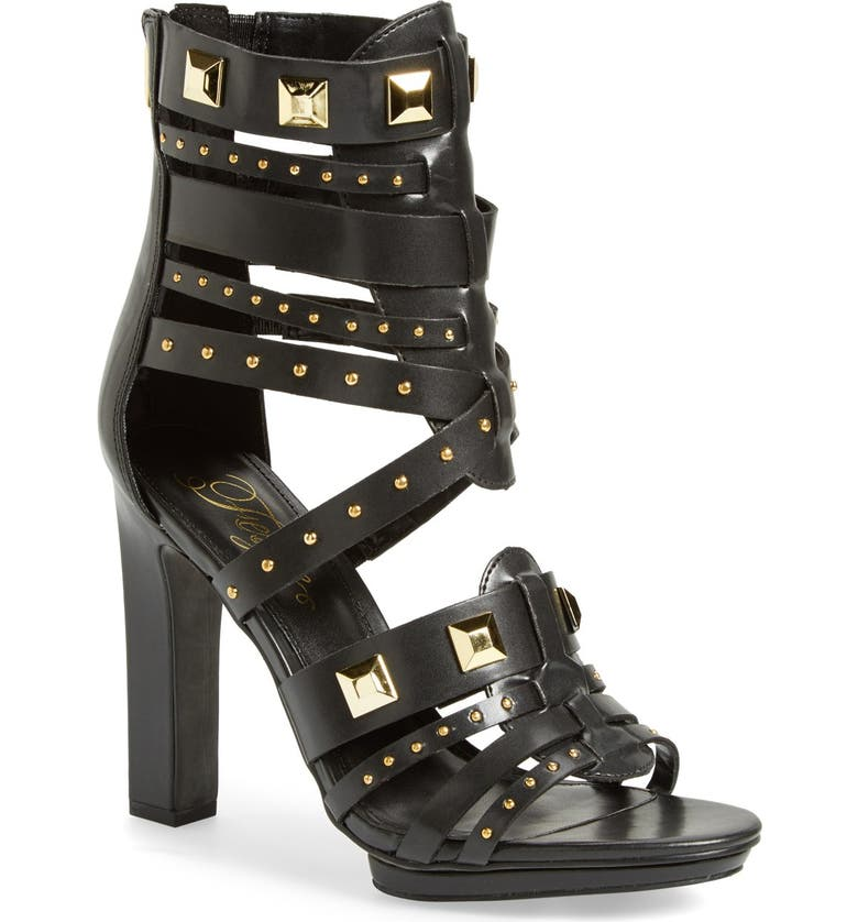 FERGIE 'Bonnie' Studded Strappy Sandal, Main, color, 001