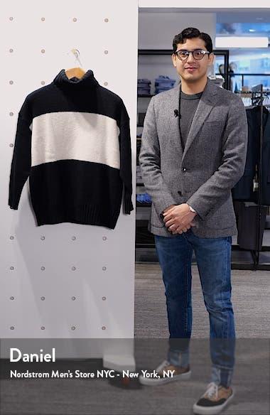 Colorblock Turtleneck Wool Sweater, sales video thumbnail