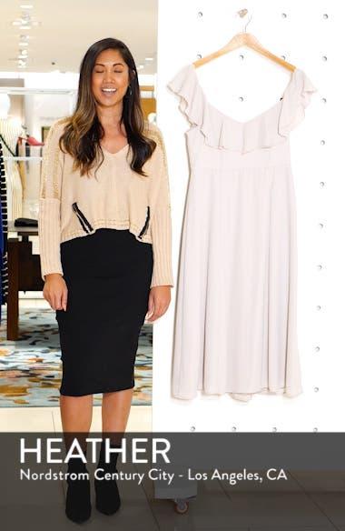 Camilla Ruffle Neck Tea Length Dress, sales video thumbnail