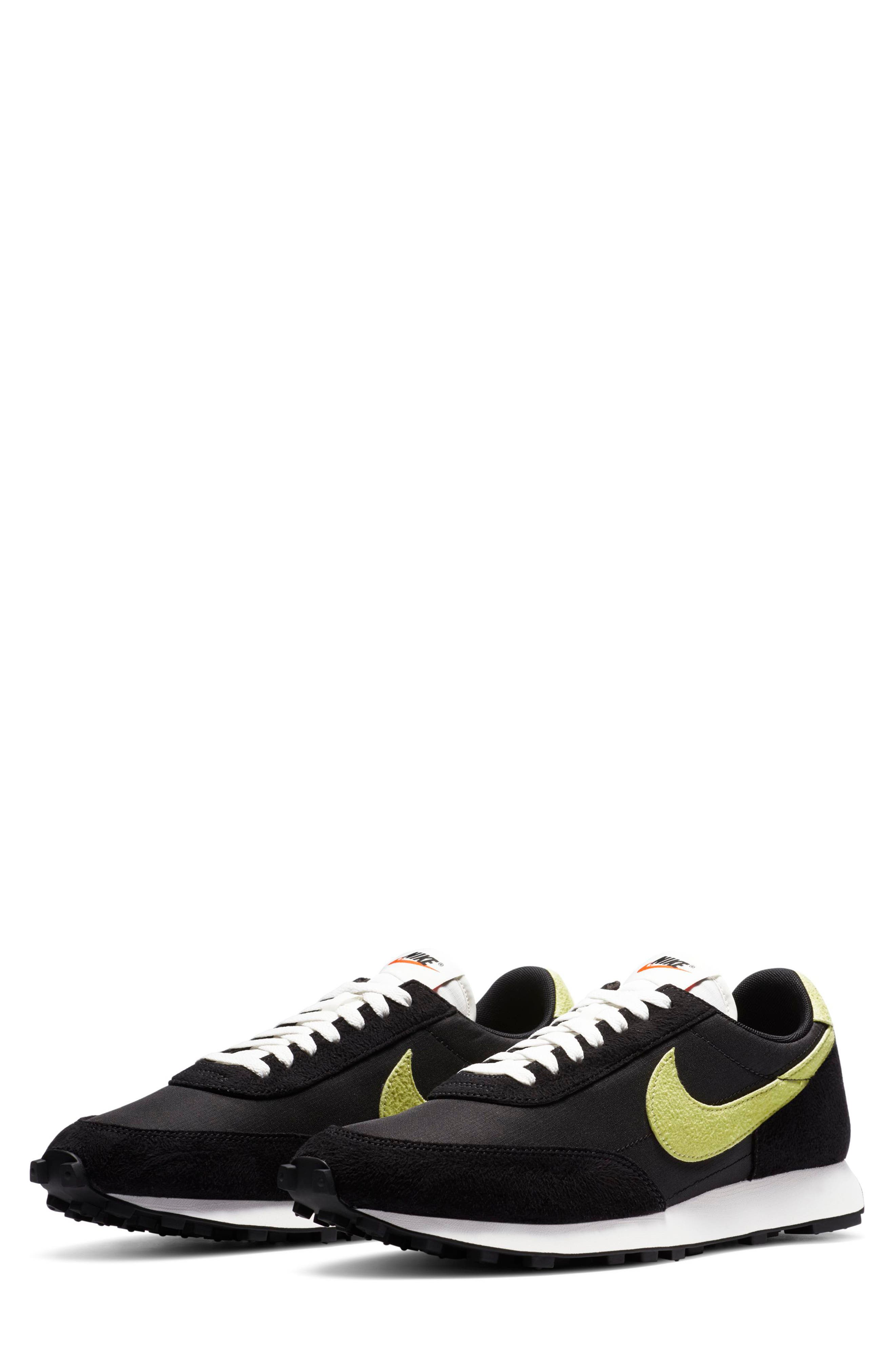 Nike\\\'s 1979 Tailwind marathon shoe gets a much-hyped update in this throwback sneaker that still sports its blend of sleek nylon and high-pile suede. The square-nubbed tread stays faithful to the sneakerhead-favorite original, with iconic Swooshes dropping down the sides for a look that\\\'ll give it heavy play in your sneaker rotation. Style Name: Nike Daybreak Sp Sneaker (Unisex). Style Number: 5949568. Available in stores.