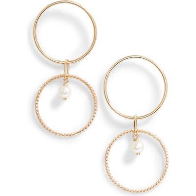 Poppy Finch Pearl Double Hoop Earrings
