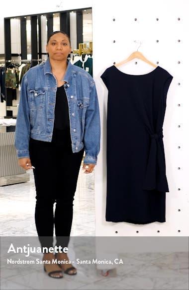 Tie Waist Cap Sleeve Sheath Dress, sales video thumbnail