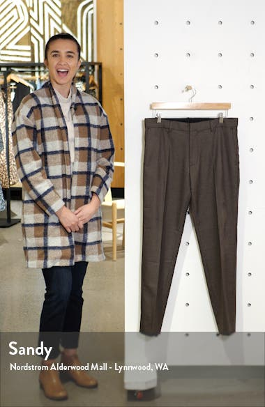 Sutton Slim Fit Houndstooth Check Pants, sales video thumbnail