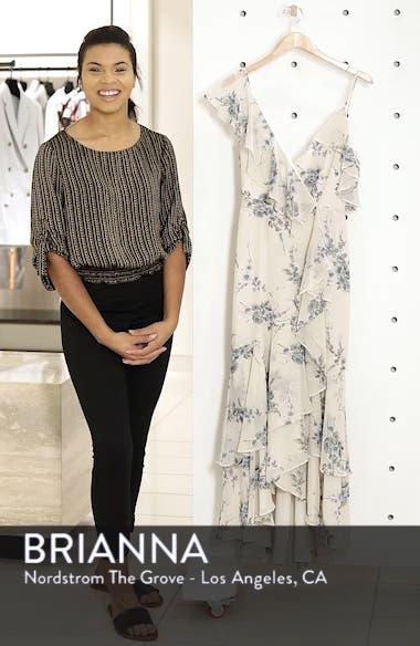Elanor Ruffle Faux Wrap Maxi Dress, sales video thumbnail
