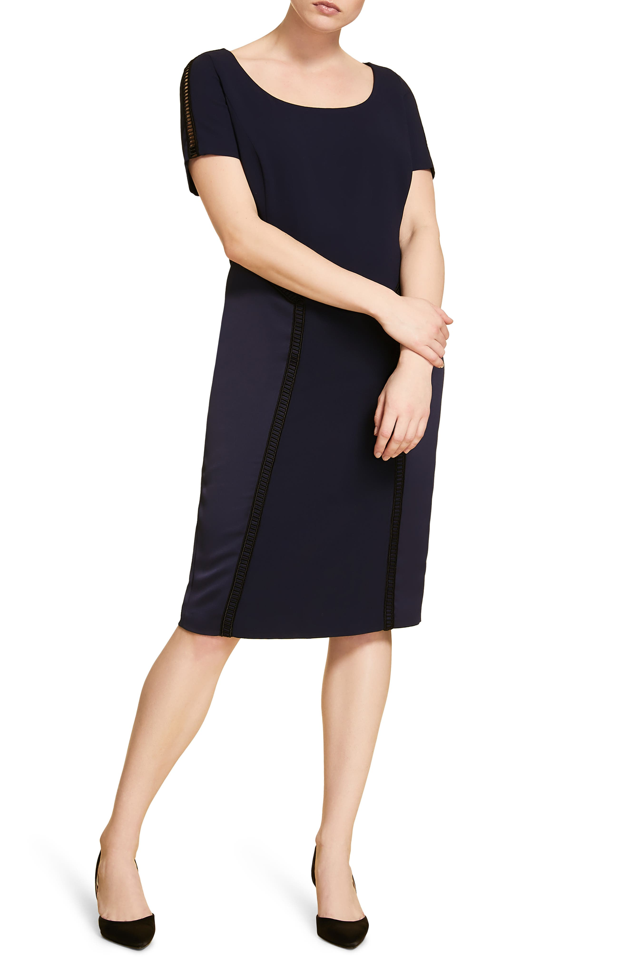 Plus Size Marina Rinaldi Destino Sheath Dress, Blue